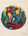 Riveter by Harry Sternberg, screenprint drawing