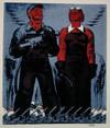Winning the Battle of Production by Hugo Gellert, screenprint drawing