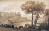 View of the Acqua Acetosa by Claude Gellée (called Claude Lorrain), pen and ink drawing