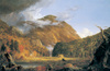 A View of the Mountain Pass Called the Notch in the White Mountains by Thomas Cole, 1839, oil painting