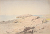 Rocks at Nahant, ca. 1864, graphite drawing by William Stanley Haseltine