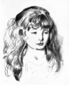 Anne by George Bellows, drawing