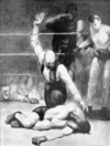 Counted Out, No. 2 by George Bellows, drawing