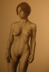 Rachel by Bruno Surdo, 2000, charcoal drawing