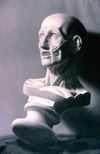 Anatomical Mask by Bruno Surdo, charcoal drawing
