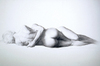 Embrace by Bruno Surdo, charcoal drawing