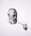 Billy by Bruno Surdo, 2001, compressed charcoal drawing