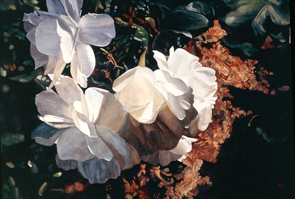 Sunlight and Shadows by Florence Strauss, 2006–2007, watercolor, 29 x 41.