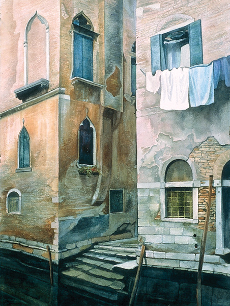 Twilight in Venice by Florence Strauss, 2006–2007, watercolor, 29 x 21.