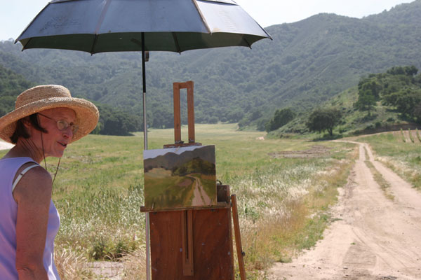 beginner oil setting up for plein air painting artists network