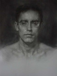 Drawing by Dan Thompson, Study for Mirror (I Against I)