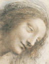 Head of the Virgin in Three-Quarter View Facing to the Right by Leonardo da Vinci, drawing