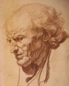 Jean-Baptist Greuze's drawing, Study of the Head of an Old Man
