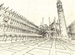 June 16, 2007, Piazza San Marco by Victor Timofeev, drawing