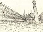 June 16, 2007, Piazza San Marco by Victor Timofeev, drawing