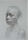 Connie XXi by Costa Vavagiakis, pencil and chalk drawing
