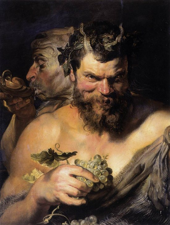 Two Satyrs by Peter Paul Rubens, 1618-19.