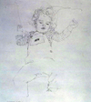 Graphite drawing by Henry Casselli, Marin My Dear
