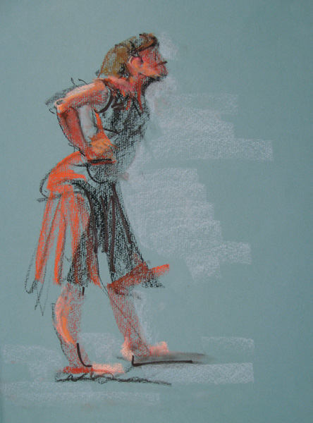 Attitude by Patricia A. Hannaway, 2006, pastel drawing