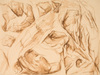 Drawing by Philip Pearlstein, Study for Eroded Cliff