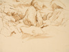 Drawing by Philip Pearlstein, Study for Glacier Scraped