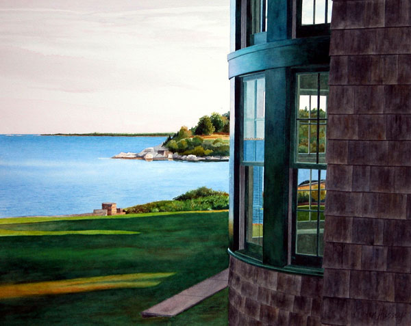 Coastal Comfort 2005, watercolor, 19 x 26. Private collection.