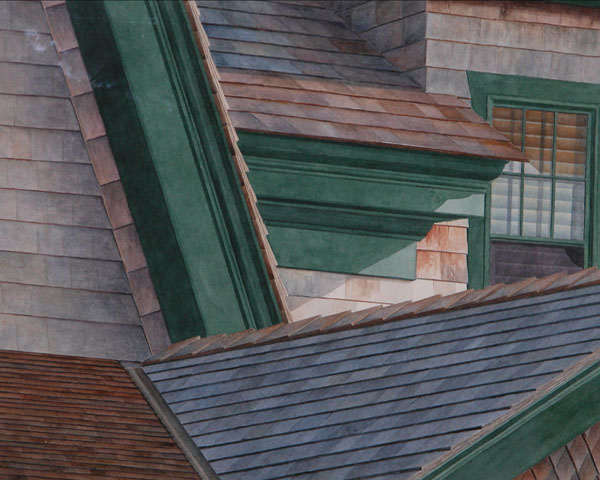 Shingle Style 2007, watercolor, 14 x 17. Collection the artist.
