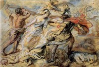 Rubens drawing, Hercules and Minerva Fighting Mars