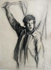 Burton Silverman Demonstrator charcoal drawing