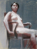 Faculty Drawing by Scott Noel, 2007, pastel drawing