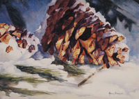Bradburn Snow Cones watercolor