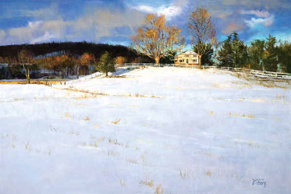 Winter Clearing 2007, oil on linen, 24 x 36. Courtesy Travis Gallery, New Hope, Pennsylvania.