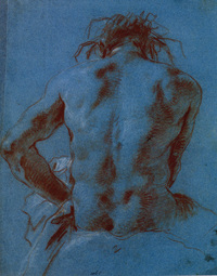 Tiepolo Study of the Back drawing