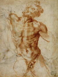 Bandinelli Laocoön chalk drawing
