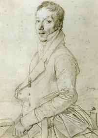 Ingres Young Man graphite drawing