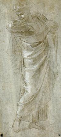 Raphael Saint Paul Rending His Garments drawing