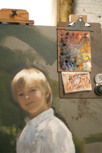 Garth Herrick oil portrait