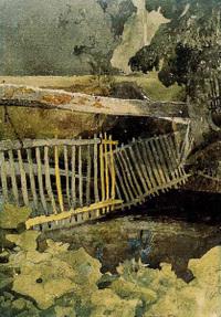 Cotman The Drop-Gate, Ducombe Park watercolor