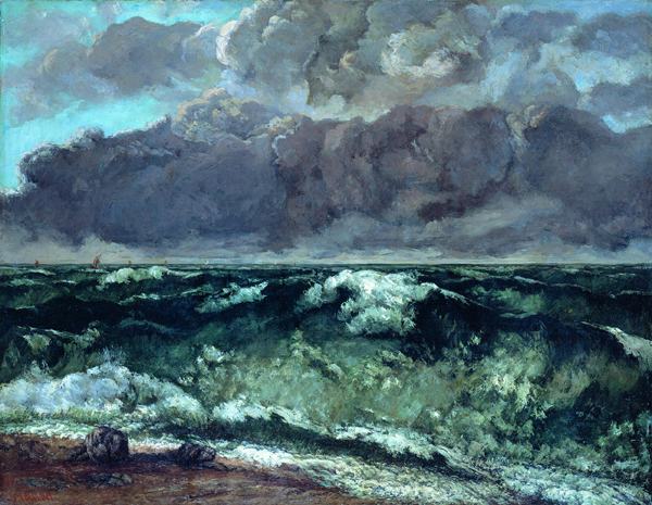 The Wave by Gustave Courbet, ca. 1865–1869, oil.