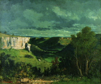 Courbet Valley of the Loue in Stormy Weather