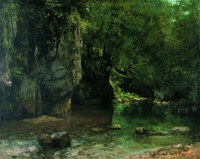 Courbet Shaded Stream at the Puits-Noir