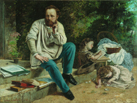Courbet P.J. Proudhon in 1853