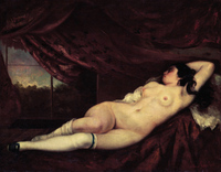 Courbet Reclining Nude