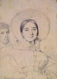 Ingres Madeleine Ingres With the Artist graphite