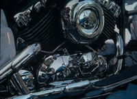Gordon Blue Motorcycle pastel