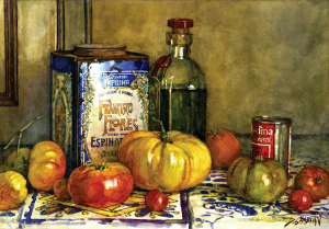 Chabrian Spicy Tomatoes watercolor