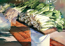 Hearding Green Grocer watercolor