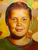 Bennett Portrait of a Young Boy acrylic