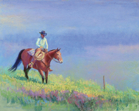 Howe The Cowboy pastel