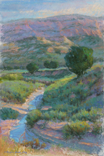 Howe Creek Bed pastel